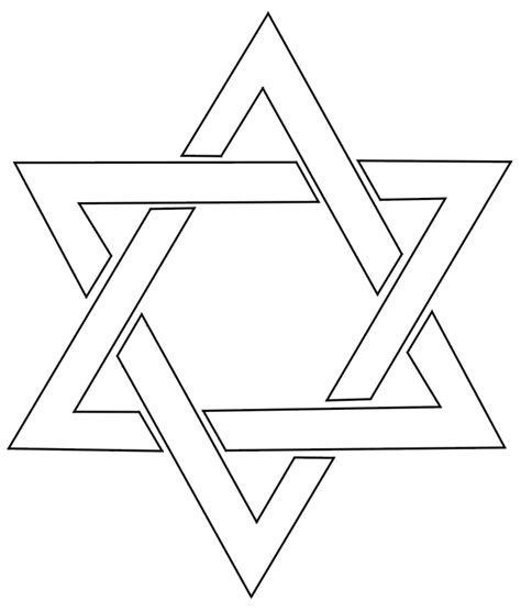 coloring page of star of david printables for kids from www printactivities com