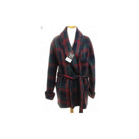 robe de chambre en des pyr駭馥s pour homme veste homme des pyrenees ecossais marine par val d
