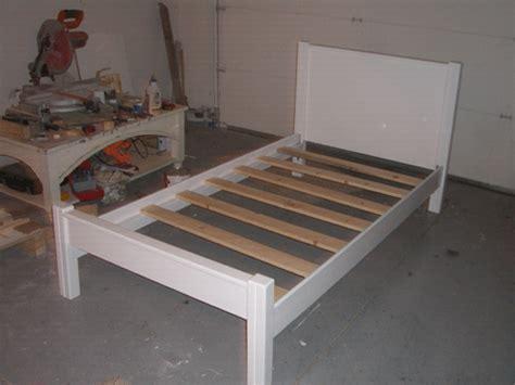 build plans single bed frame diy platform bed design plans