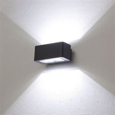 applique led da esterno faro da parete applique led bianco 12w color grafite