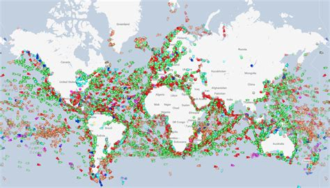ship route map map visualizing every ship at sea in real time