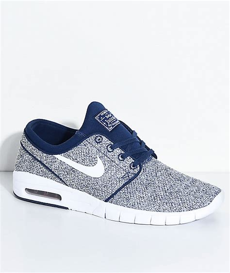 Nike Stefan Janosky Max Blue by Nike Sb Janoski Air Max Binary Blue White Skate Shoes