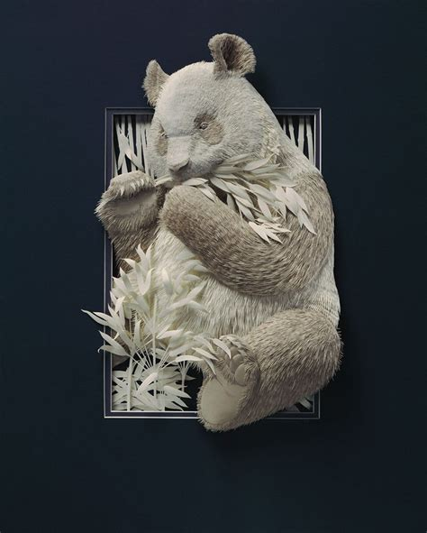 Make Paper Sculpture - these amazing animal sculptures were made from carefully