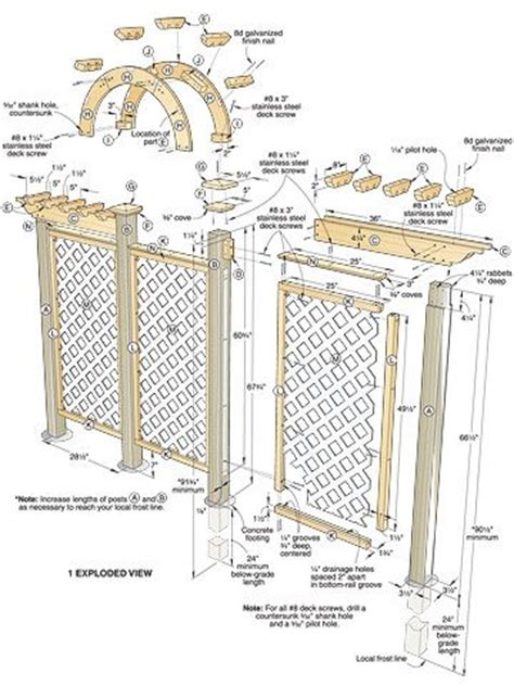 wood trellis plans arched trellis woodworking plan wood working pinterest