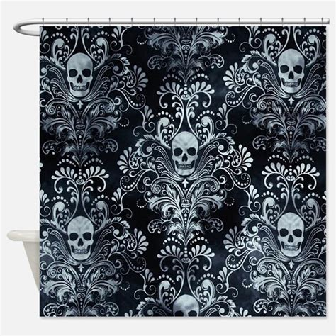 skull curtains uk skull shower curtains skull fabric shower curtain liner