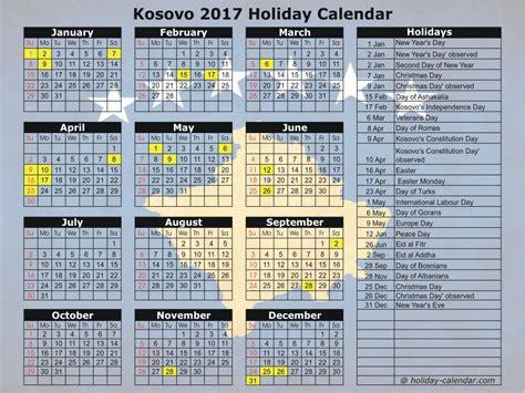 Calendar 2017 Kuwait With Holidays Calendar