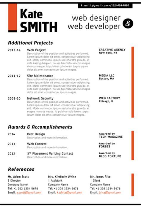Resume Format Doc For Web Designer Web Designer Resume Template Cover Letter Portfolio