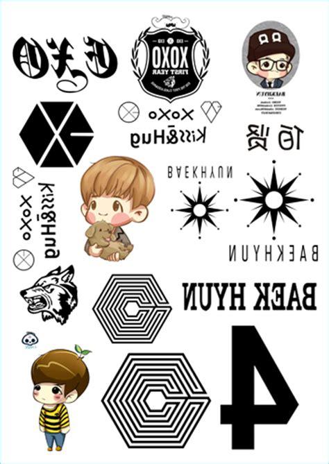 Custom Kpop Exo 7 buy wholesale exo sticker from china exo sticker