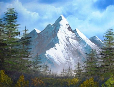bob ross painting mountains happy trees studio march 2011