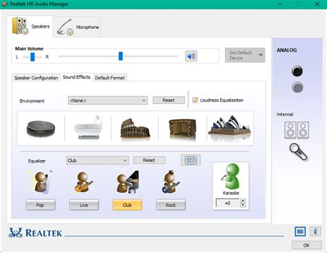 realtek hd audio manager  boost pc sound
