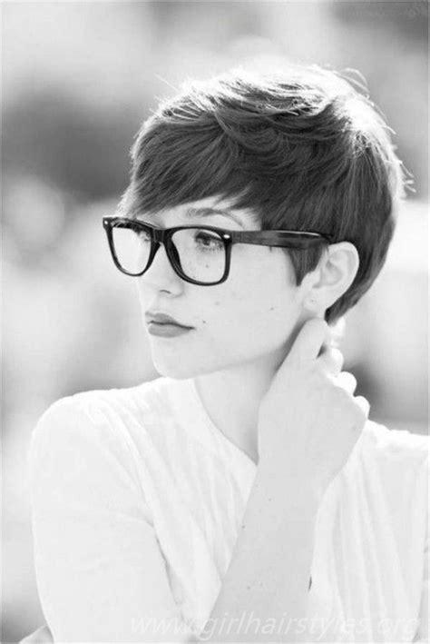 short hair pixie cut hairstyle  glasses ideas