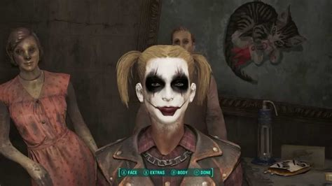 fallout 4 how to make harley quinn youtube