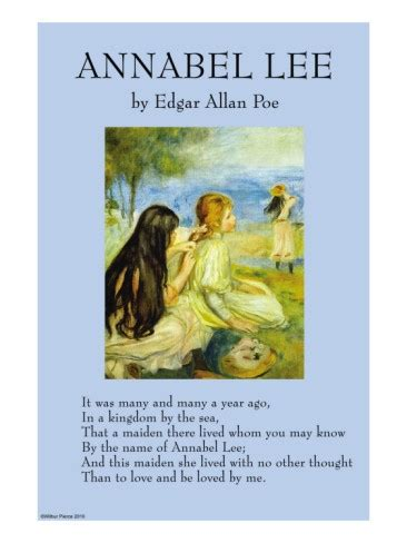 annabel lee by edgar allan poe annabel lee premium poster books worth reading pinterest