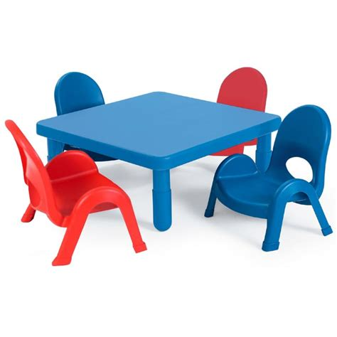 angeles myvalue toddler plastic table  chairs set  square ab packaged tables