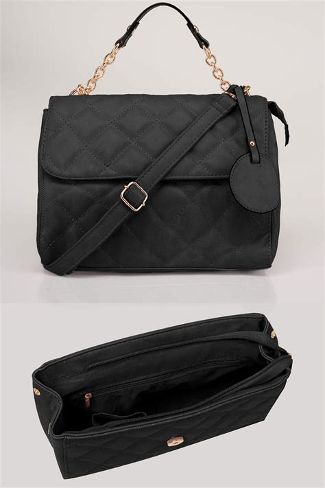 Quilted Cross Bag by Black Quilted Cross Bag