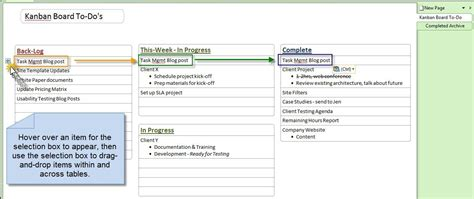 onenote task management template onenote kanban board one board to rule the tasks lean