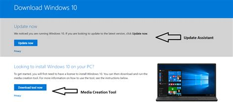 install windows 10 link steps to manually download windows 10 creators update