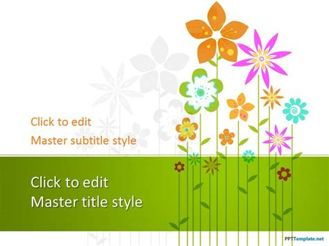 pattern powerpoint kindergarten free floral ppt template