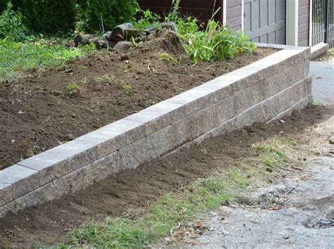Walls Cinder Block Retaining Wall With Raw Material Garden Wall Materials