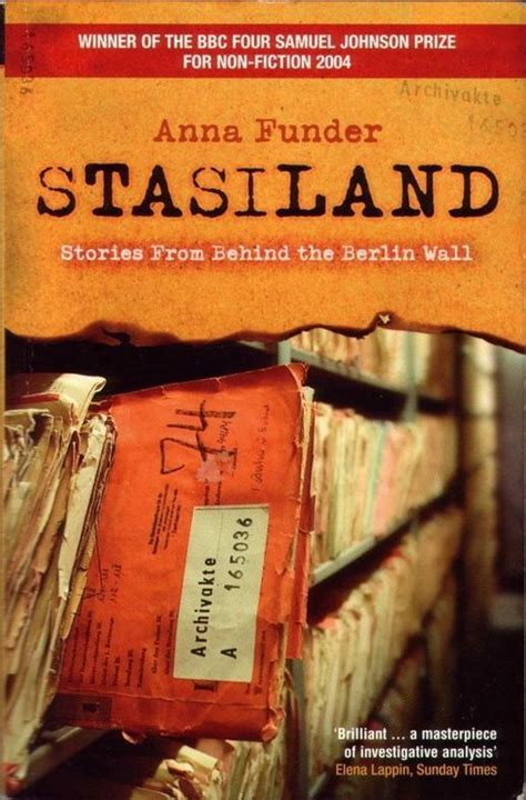stasiland stories from behind stasiland by anna funder learnink