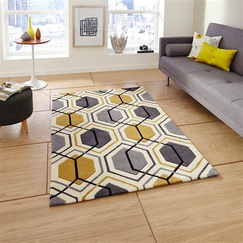 Teppiche Gelb Grau by Hong Kong Hk 7526 Teppiche In Grau Gelb Fruugo