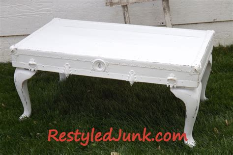 shabby chic trunk coffee table diy shabby chic trunk lid coffee table restyled junk