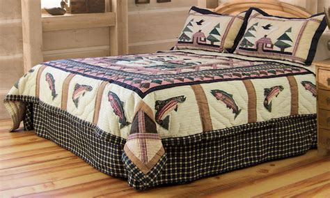 fishing themed quilts in king full queen and twin quilt sets