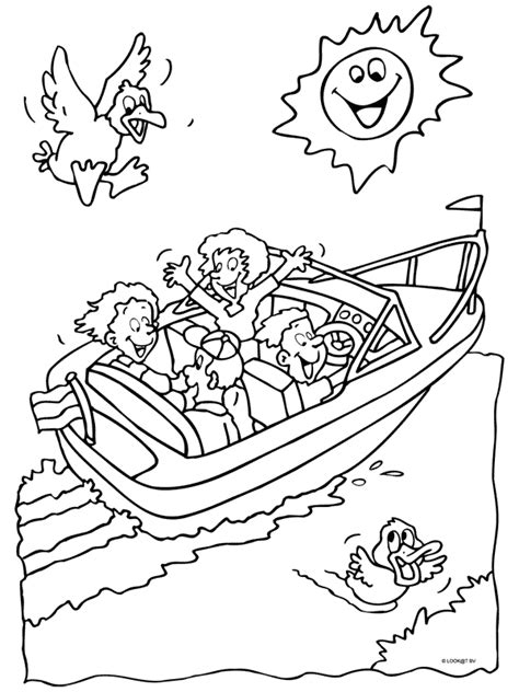 speedboot kleurplaat kleurplaat in de speedboot kleurplaten nl