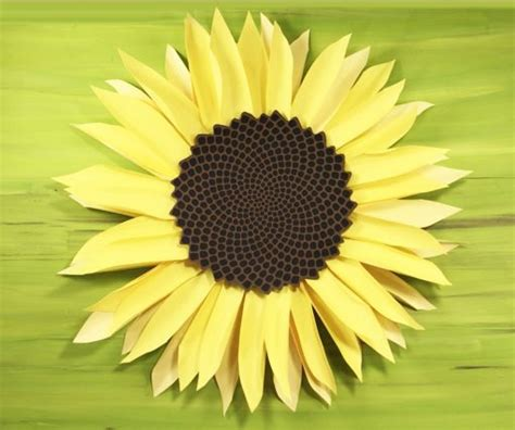 paper sunflower tutorial giant paper sunflower tutorial this will mesmerize you