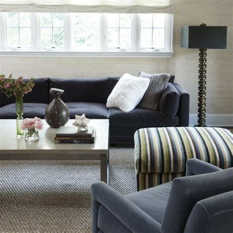charcoal grey sofa  natural color sisal rug  urben inspiration  pinterest