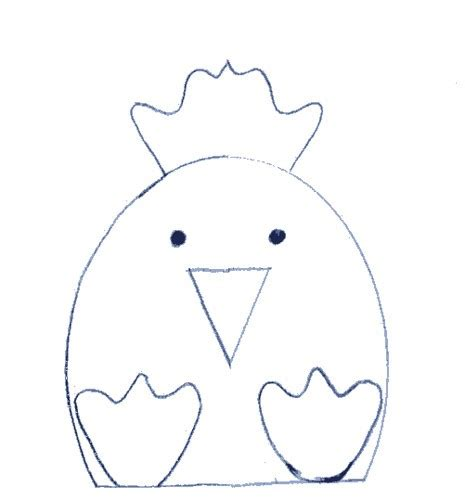 best photos of chick outline printable baby chick