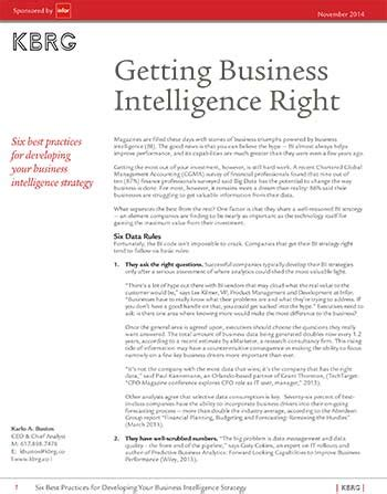 business intelligence research paper getting business intelligence right bizibl