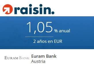 euram bank dep 243 sito euram bank al 1 05 tae 50 de bonus con raisin