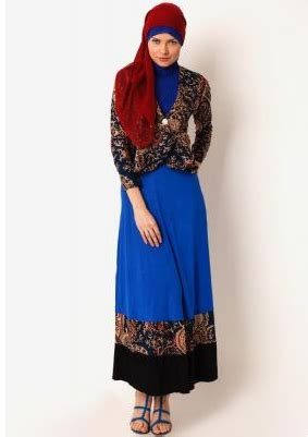Batik Zumara 1 model dress muslim terbaru 2016 indo fashion