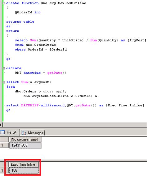 Sql Table Valued Function by Sunday T Sql Tip Inline Vs Multi Statement Table Valued