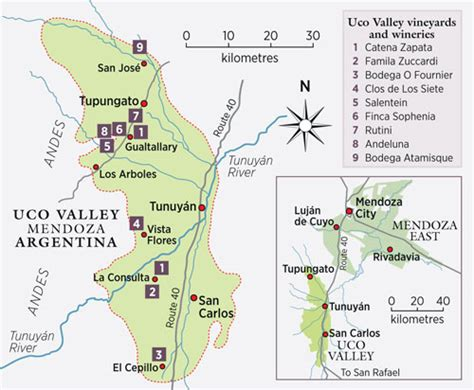 uco parking map decanter travel guide uco valley argentina decanter