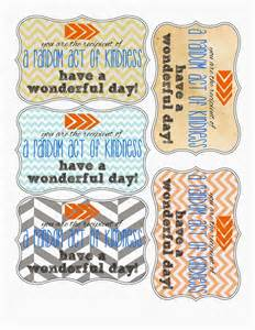 Random acts of kindness printables random acts of kindness pint
