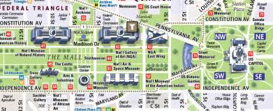 washington dc museum map pdf map of attractions in washington dc images