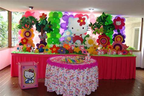decoracion de mesas para fiestas infantiles decoracion hello kitty1 decoraci 243 n