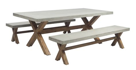 wooden dining table with bench seats 2m poly cement dining table with bench seats bay