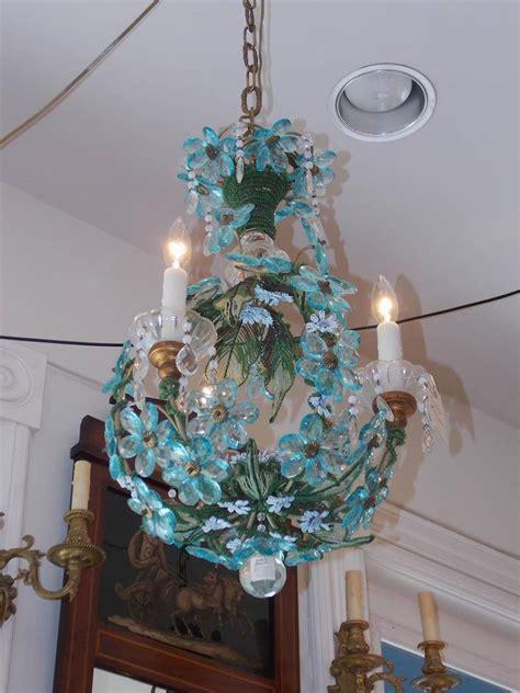 blue bead chandelier venetian cobalt blue beaded chandelier circa 1840