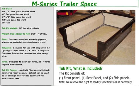 rv bathtubs for sale m416 military trailer tub kit by dinoot trailers specs