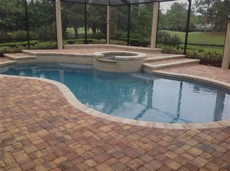pool deck pavers brick paver pool deck installation