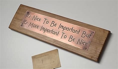 Handmade Plaques - important to be inspirational quotes