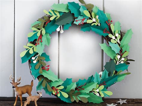 How To Make A Paper Wreath - a paper wreath with berries to make s weekly