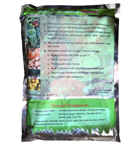 Pupuk Calsium Fertilizer pupuk calcium kalsium fertilizer 1 kg sumber