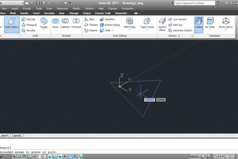 autocad tutorial questions and answers tutorial press pull tool in autocad 2011 grabcad