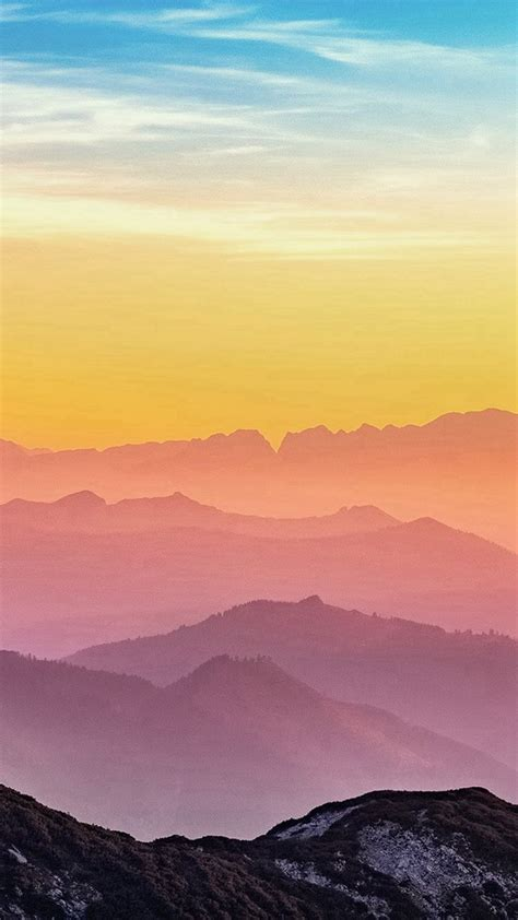 rainbow mountain color nature iphone  wallpaper