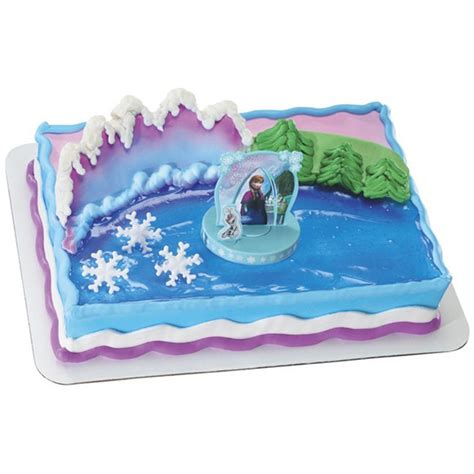 Decorating Frozen Cake by Decopac Disney Frozen And Elsa Cake Kit