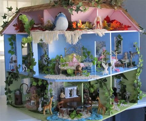 finished fairy dollhouse   art dolls  kaerie